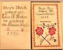 Two Amish Fraktur Bookplates