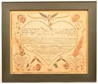 Gottlob Jungmann Baptismal Certificate