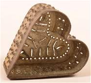 PA Punched Tin Heart Shaped Cheese Mold