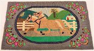 Lancaster County Amish Hooked Rug