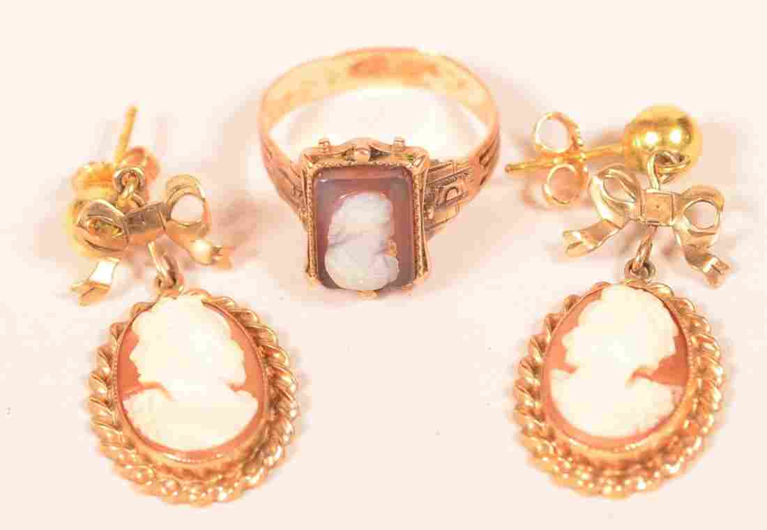 Two Antique Shell Cameo Pieces