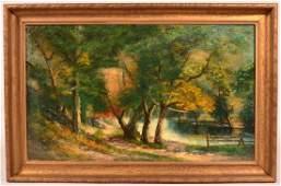 G Falk 1915 Oil on Canvas Landscape