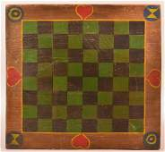 1920s Paint Decorated Game board
