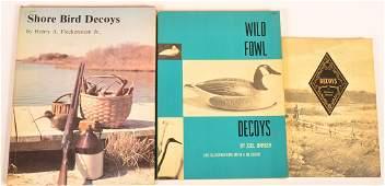 3 vols Books on Decoys