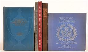 (5 vols) Books on Silver and Silversmiths