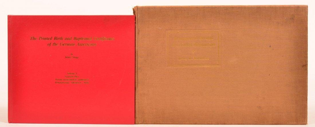 (2 vols) Penna German Taufscheins & Fraktur