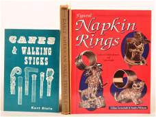 (4 vols) Books on Canes Napkin Rings +