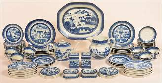 Reproduction Canton Partial Dinner Service.
