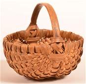 Woven Oak Splint Egg or Berry Basket