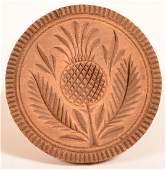 19th Century Pineapple Pattern Butter Print