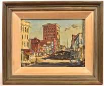 Walter E Baum Oil Board Titled Seventh Street