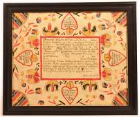 Baptismal Certificate Attributed to M Brechall