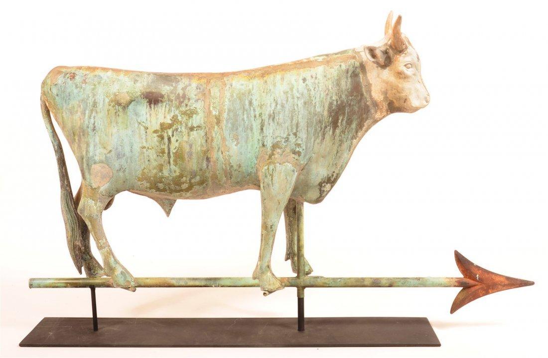Copper Dimensional Bull Weathervane.