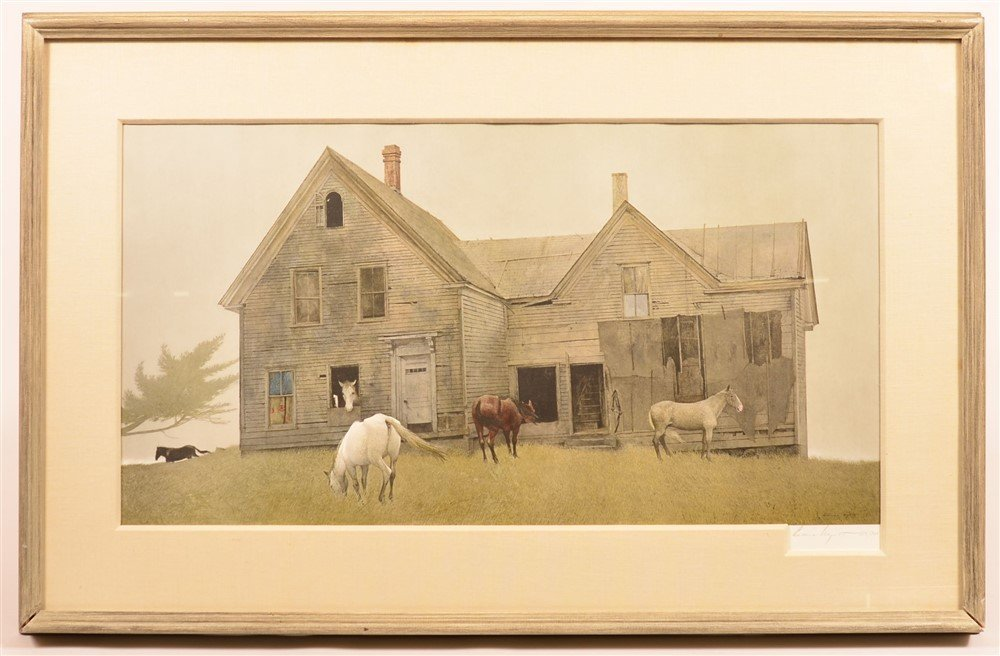 Andrew Wyeth Limited Edition 154/300 Print.