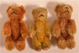 Three Schuco Vintage Mohair Teddy Bears.
