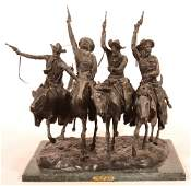 Copy of a Frederick Remington Bronze Sculpture