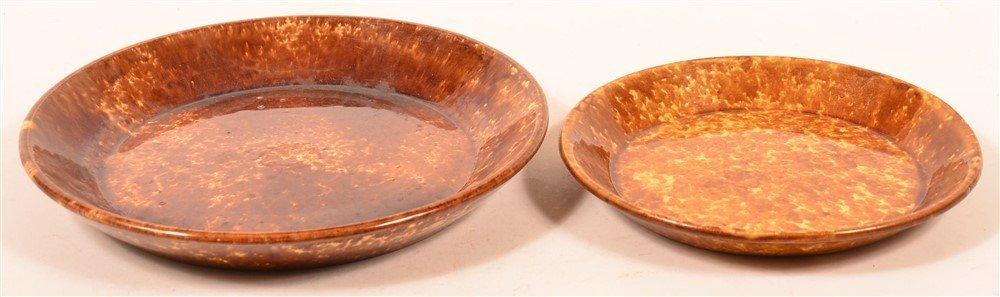 Two Rockingham Glazed Yellowware Plates.
