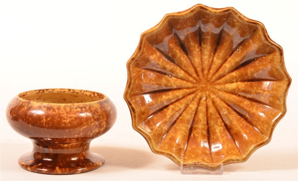 Two Pieces of Rockingham Yellowware Pottery.