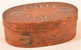 Berks County Paint Decorated Oval Band Box.