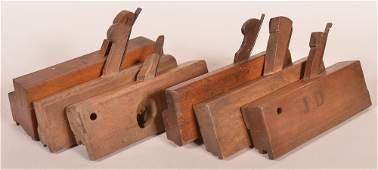 6 Miscellaneous 19th C. Wooden Block Planes