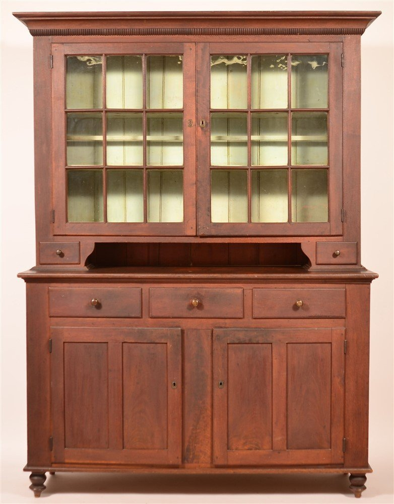 Lancaster Co. Federal Two Part Dutch Cupboard.