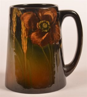 Rookwood Art Pottery Floral Decorated Tankard.