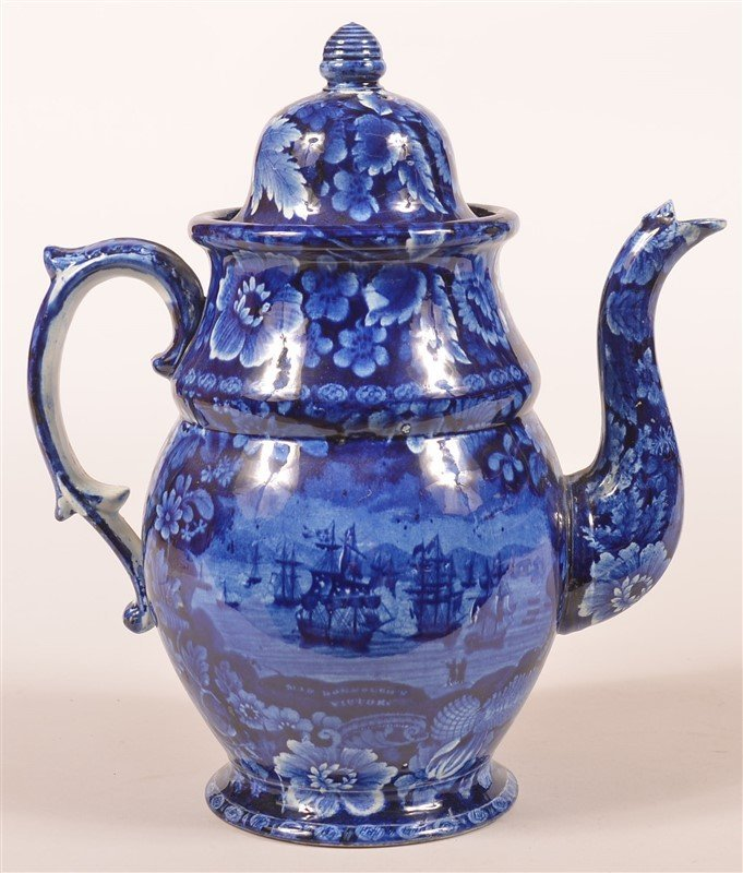 Historical Staffordshire Dome Top Coffee Pot.