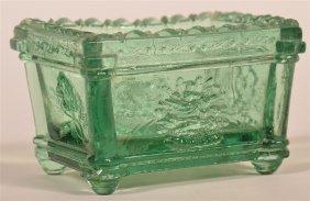 Rare Jersey Glass Co. Pressed Open Salt.