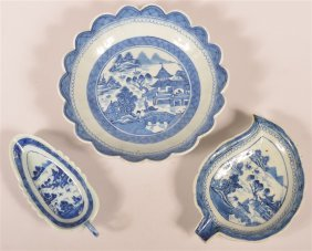 Three Pieces Of Canton Oriental Porcelain.