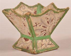 Pennsylvania Wallpaper Covered Sewing Basket.