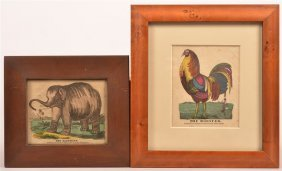 Two Hand Colored Children's Prints.