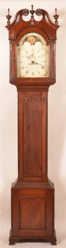 John Leinbach Chippendale Tall Case Clock.