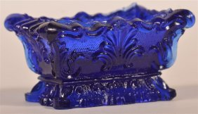 Very Rare Boston & Sandwich Cobalt Salt Dish.