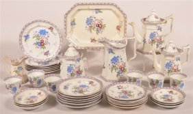 36 Pc. Staffordshire Purple Transfer No. 20 Set.