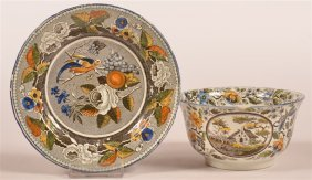 Two Pieces Salopian Soft Paste Transfer China.