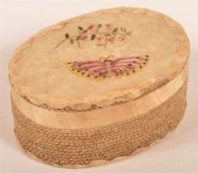 Very Fine Moravian Quilled Paper Box.