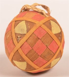 Early 19th Century Patchwork Rattle Ball.