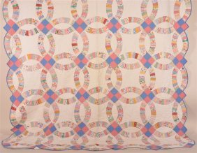 Antique Wedding Band Pattern Patchwork Quilt.