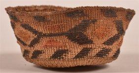 Antique Northwest Coast Indian Trinket Basket.