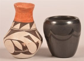 Two Small Pueblo Indian Pottery Vessels.