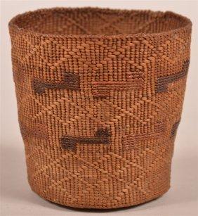 Antique Northwest Coast Indian Basket.