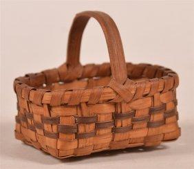 Antique Miniature Cherokee Indian Basket.