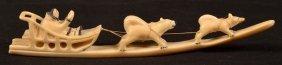 Vintage Eskimo Walrus Ivory Carving.