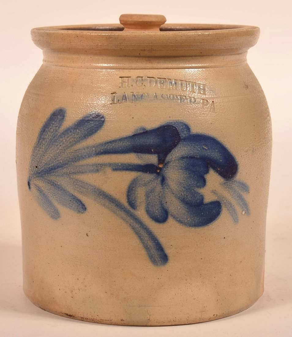 H.C. Demuth, Lancaster, PA Stoneware Crock.