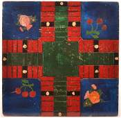 Lancaster Amish Paint Decorated Game Board