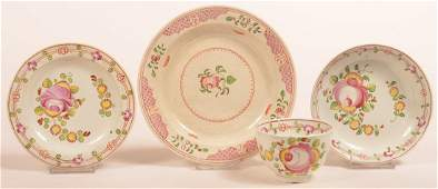 Three Pieces of Queens Rose Soft Paste China.