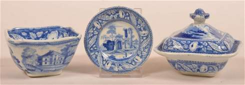 Three Pieces of Miniature Staffordshire China