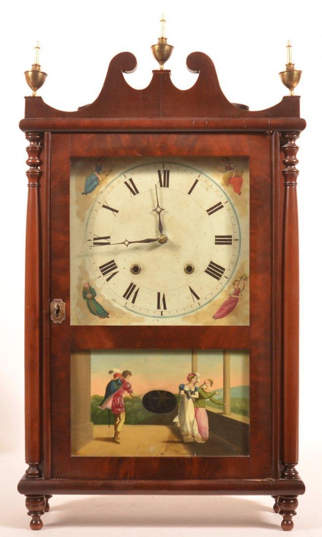 Lehigh Valley, PA Pillar and Scroll Shelf Clock.