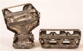 Two Vintage Turkey Form Chocolate Molds