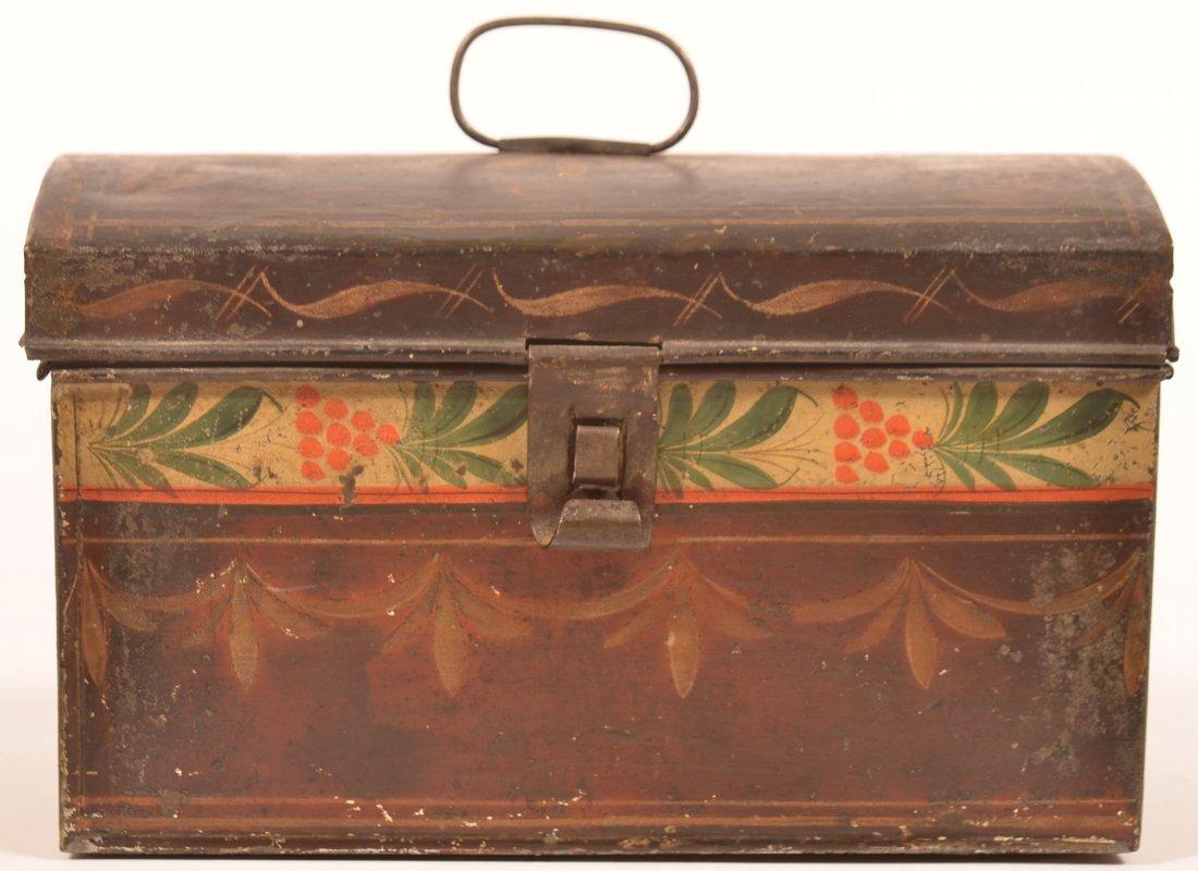 PA 19th Century Toleware Document Box. - 2